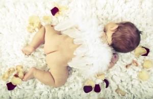 Baby sleeps at night
